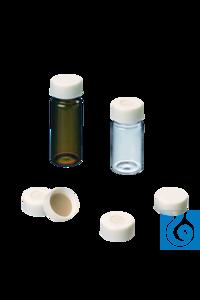 neochrom® Schraubkappen ND24 weiß, mit Loch, Septum Butyl rot/PTFE grau, 100 Stc...