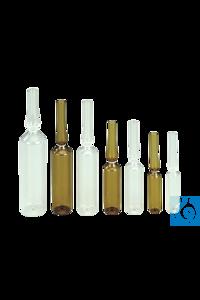 Spießampullen aus Fiolax Klarglas, 20 ml, 113x22,5mm, 144 St./Pack Form B, Ausführung nach DIN...
