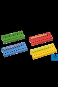 neoLabLine® Reaktionsgefäßständer, grün, PP, 2 x 10 Gefäße 1.5/2.0 ml Der neoLab...