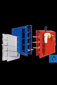 neoLab® Rack für Pipetten 0,1 bis 25 ml, ABS Kunststoff blau Stabiles Pipettenrack mit 4 Etagen...