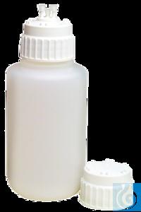 neoLabLine® Ersatz-Saugflasche PP, 2 l, mit Verschluss Ersatz-Saugflasche mit Schraubverschluss...