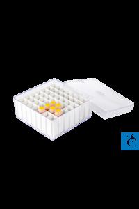 neoLab Ablagekasten, 12 x 12 x 5,5 cm, 49 Plätze Transparenter Ablagekasten aus Polystyrol mit...