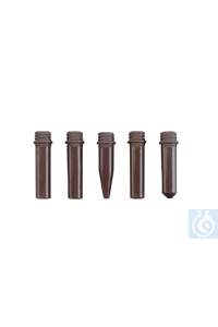 neoScrew-Micro-Tubes, braun, selbstehend, 1,5 ml, 1000 St./Pack