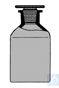 ecoLab Steilbrustflaschen braungl.2000ml Eh Glassto. NS29/32 Nr. E-1453 mit NS-Glasstopfen
