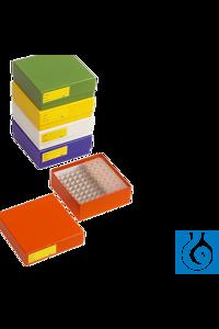 neoLabLine® Kryobox beschichtet aus Karton, gelb, 136x136x50mm Die gelbe neoLab Kryobox ist aus...