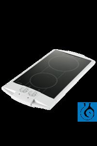 Ceran®-Einzelkochplatte 180 mm Ø, 1800 W, Gehäuse weiß Effiziente und formschöne Einzelkochplatte...