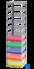 neoLab® Truhengestell f. 75er Box, 8 Fächer, 141 x 141 x 646 mm Für alle Kryo-Boxen mit den...