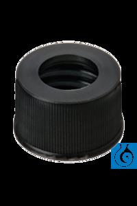 neochrom® Schraubkappen ND13 mit Loch, PP schwarz, 100 St./Pack Schraubkappen ND 13 aus PP,...