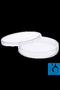 Moonlab® Petrischale, Ø: 90 mm, Höhe: 15 mm, 3 Nocken, klar, steril, PS,...