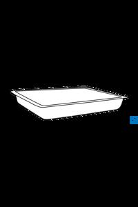 ecoLab Rechteckige Edelstahl-Schale, 3 l, 34 x 21 x 6 cm Schale aus Edelstahl 18/10, seidenmatt...