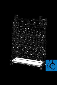 ecoLab Abtropfgestell aus Draht, weiß, 24 Stäbe, 20 Bogen PE-Überzug weiß, 11 mm Draht, mit...