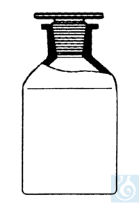 ecoLab Steilbrustflaschen Klargl. 2000ml Eh Glassto. NS29/32 Nr. E-1442 mit NS-Glasstopfen