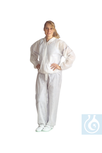 neoLab Protective overall made of Tyvek without hood, size M Breathable protection overalls with...