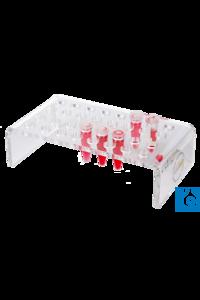 neoLab® Einsatz für 32 Reaktionsgefäße 0,5 ml, für Box Nr. 4-1011 Einsatzgestelle aus Acrylglas...