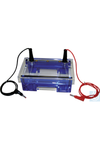 neoLab Electrophoresis chamber Mini horizontal for gel size 81 x 100 mm + 81 x 70 mm...