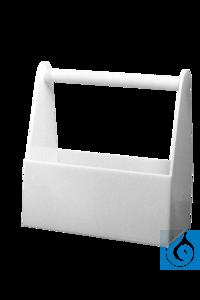 neoLab® Flaschen-Tragegestell (PP) für 6 Flaschen bis 500 ml Tragestell aus Polypropylen für...