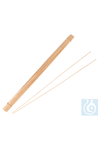 neoLab Wooden boiling rods, 200 mm long, 2 mm Ø, 100 pcs/pack For prevention of boiling delay in...