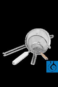 neoLab® Sieb rostfrei, 70 mm Dchm. Siebe aus rostfreiem Metallgewebe mit stabilem Griff mit...