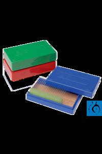 neoLabLine® Objektträger-Kasten für 25 St., PS, blau neoLab® Slide box for 25 pcs, PS, blue