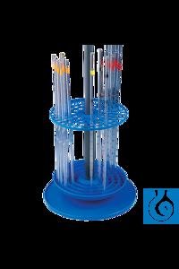 neoLab® Ständer (PP) für 94 Pipetten, rund Runder Pipettenständer aus Polypropylen, blau, zur...