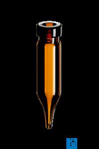 neochrom® Rollrand-Mikroflaschen 0,6 ml Klarglas, konisch, 40 x 7 mm
