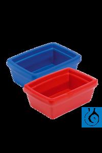 neoLab® Eiswanne Midi-Coolit 4 l, blau, geschäumtes PU Robuster Eisbehälter aus geschäumtem PU...