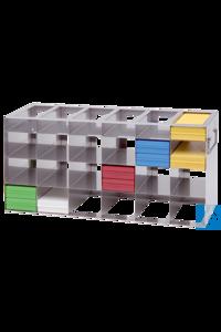 neoLab® Schrankgestell f. 100er OT-Box, 3x6 Fächer, 216 x 553 x 241 mm Für neoLab-Boxen für 100...