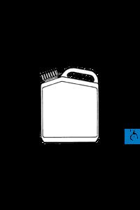 neoLab® Kanister (PE), 10 l, Gewinde 51 Kanister aus PE mit Griff und Schraubverschluss.