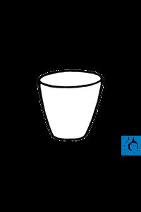 ecoLab Porzellantiegel 45 ml, 50 x 40 mm, 10 Stck./Pack Tiegel aus Porzellan, mittelhohe Form....