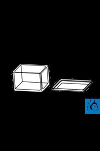 ecoLab Färbekästen aus Glas mit Deckel Färbekasten mit Deckel aus Glas. Zubehör: Einsatz für 10...