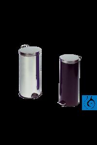 neoLab® Abfallsammler 30 l, Edelstahl, Einsatz verzinkt Große Abfallsammler...