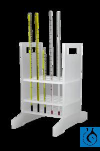 neoLab® Thermometergestell Gestell fürbis zu 25 Thermometer.  Loch-Ø oben und Mitte: 8 mm,...
