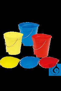 neoLab® Eimer aus PP, 12 l, rot Für starke Beanspruchungen in der Industrie! FDA-zugelassen,...