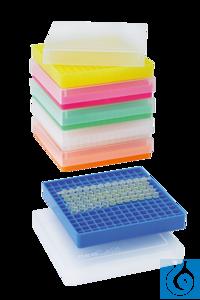neoLabLine® PCR-Aufbewahrungsbox, transparent Aufbewahrungsrack und Kryobox für PCR-Tubes und...
