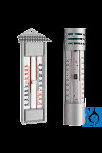 Maxima-/Minima-Thermometer, Alu-Gehäuse, -30 bis +50°C, quecksilberfrei Höchst- und...