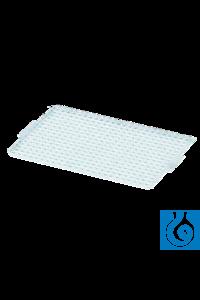 neoLab® Silikon-Matte für 384er Deep-Well Platte, rechteckige Kavitäten; VE:...