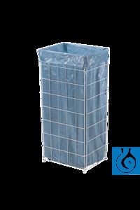 neoLab® Abfallbox Drahtgitter, 60 l, 72 x 33 x 25 mm Groß und...