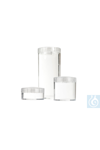 neoLab® Schraubdeckeldosen aus PS, 47 mm Ø,110 mm hoch, 10 Stck./Pack Schraubdeckeldosen aus...