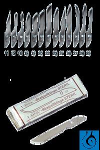 neoLab® Skalpellklingen steril, Nr. 21, VE 12 St./Pack Einmal-Skalpellklingen...