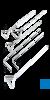 neoLab Drigalski-Spatel aus Glas, 200 x 45 mm, 4 mm ø Drigalskispatel aus Edelstahl (4301) und...