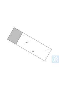 Menzel Objektträger 76 x 26 mm, extraweiß geschnitten mit Mattrand, 50 St./Pack Menzel Slides 76...