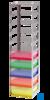 neoLab® Truhengestell f. 50er Box, 9 Fächer, 141 x 141 x 501 mm Für alle Boxen mit den Außenmaßen...