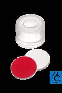 neochrom® PE Push-On Kappe 8 mm Naturkautschuk rot-orange/TEF transparent Für Fläschchen ND8 mit...