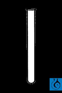 ecoLab Reagenzgläser Fiolax-Glas, rundbodig, 18 mm Ø, 180 mm lg., 100 St./Pack Borosilikatglas,...