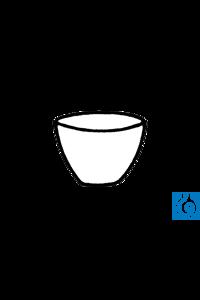 ecoLab Porzellantiegel 21 ml, 45 x 28 mm, glasiert Tiegel aus Porzellan, niedrige Form. ISO 1772,...