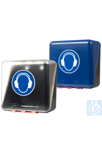 neoLab Storage box for protective earcups, blue, midi Safety must be easily accessible! This is...