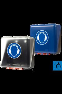 neoLab® Aufbewahrungsbox f. Kapselgehörschützer, blau, midi Sicherheit muß griffbereit sein! Dies...