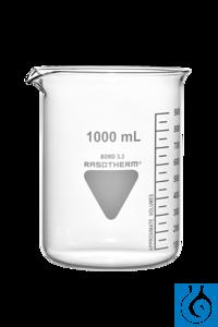 Rasotherm® Becherglas niedrige Form mit Ausguss, (Boro 3.3), 10 ml Die RASOTHERM®...