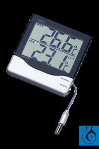 neoLab® Thermometer für Innen- u. Außentemperatur Handliches Thermometer mit großem...
