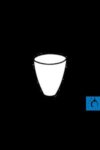 ecoLab Porzellantiegel 15 ml, 30 x 38 mm, 10 Stck./Pack Tiegel aus Porzellan, hohe Form,...
